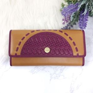 💜 LODIS Rodeo Woven Luna Leather Wallet